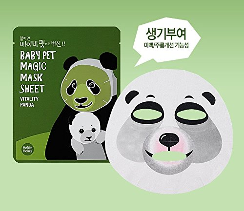 Holika - Mascarilla Baby Pet 22 Ml - Magic Mask Sheet - Panda -, Translúcido