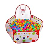 KUUQA Ball Pit Play Tent with Basketball Hoop for Kids Toddlers Outdoor Indoor Play 4 Ft/120CM (Balls Not Included)