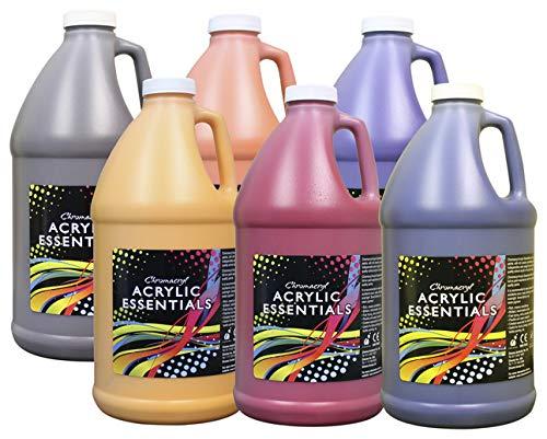 Chroma Acrylic Essentials Set, 1/2 Gallon Jugs, Assorted Secondary Colors, Set of 6