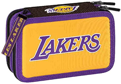 Astuccio Scuola NBA Los Angeles Lakers Completo Triplo Scuola 3 Zip