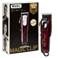 Wahl Professional 5-Star Magic Clip Cord Cordless Hair Clipper for Barbers and Stylists, Red, 1...