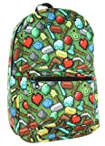 Minecraft Sword Pickaxe Items All Over Sublimated Print Laptop Backpack School Bag