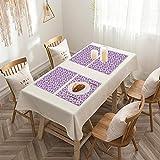 Sets de table de Rectangulaire lavables, durables, résistants à la chaleur et...