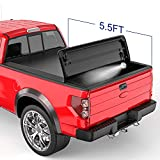 MOSTPLUS Tri 3-Fold 5.5 FT Soft Fold Truck Bed Tonneau Cover Compatible for 2009-2014 Ford F150 F-150 Styleside (Excl Raptor Series)