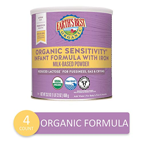 Earth's Best Organic Low Lactose Sensitivity Infant Powder...