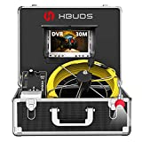 HBUDS Pipe Inspection Camera, Pipeline Drain Sewer Industrial Endoscope, PC30M Waterproof IP68...