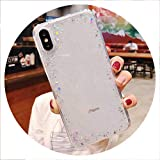 Luxury Glitter Star Powder Phone Case for iPhone X XR XS Max 8 7 Plus 6 6S Plus Shining Transparent Soft TPU Back Cover,T2,for iPhone 6 6S Plus
