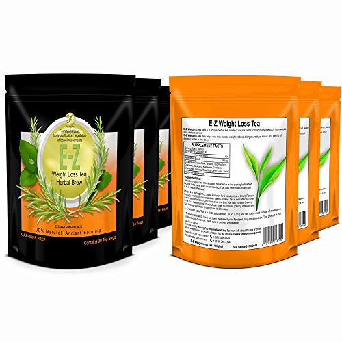 E-Z Detox Tea for Weight Loss and Belly Fat - Appetite Control - Body Cleanse – Detox 3 Pack 3
