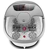 Motorized Foot Spa Bath Massager with Massage Rollers and Balls for Health and Cleaning, Feet Bath Tub with Heat and Bubbles, Temp+/-, Timer, and Modes Control, Rotating Pedicure Stone