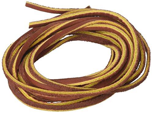 3.5 mm Cordón de Cuero Plana Leather Cord Cintas de Cuero,Marrón