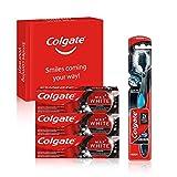 Colgate Kit blancheur au charbon avec 3 Dentifrice blanchissant Colgate Max...