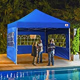 ABCCANOPY Outdoor Canopy Tent 8x8 Gazebo Pop Up Party Tent Wedding Instant Shelter with Elegant Church, Bonus Carrying Case/Bag, Royal Blue