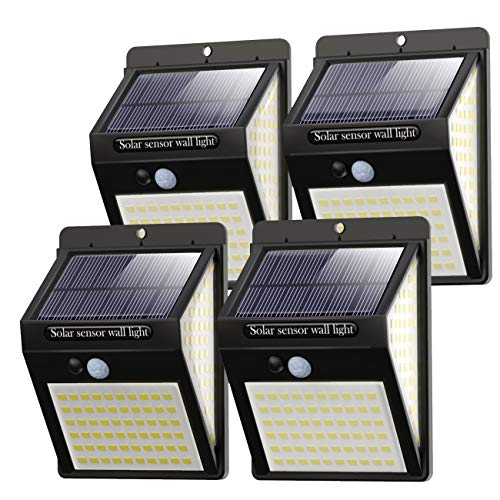 Litogo Luz Solar Exterior 140 LED【4 Pack / 3 Modos】con Sensor...
