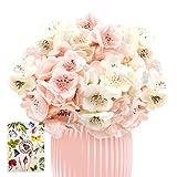 SnailGarden Fleur d'hortensia Artificielle,2 Bouquets 24 Fausses Fleurs Simples Réalistes,Bouquet de Fleurs en Soie pour la Décoration de Mariage à la Maison de Mariage