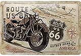 Nostalgic-Art Plaque vintage Route 66 – Bike Map – Idée de cadeau pour les fans de moto, en métal, Design retro pour la décoration, 20 x 30 cm 22279