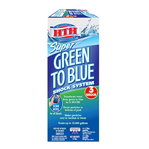 HTH 52032 Super Green to Blue Shock System for Swimming Pools, 7.2 lbs