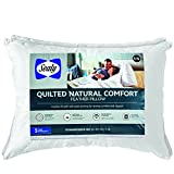 Sealy Quilted Natural Comfort Feather Pillow (2 Pack), Jumbo, White