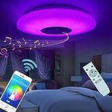 Plafonnier LED Lampes De Plafond 60w Avec Hautparleur Bluetooth Télécommande...