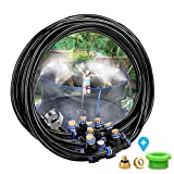 Outdoor Misting Cooling System, 59ft(18M) Patio Misting Kit with 19 Brass Mist Nozzles for Patio...