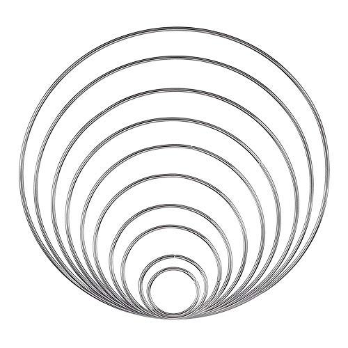 Anillos de Metal Aros, 10 piezas Soldadas Atrapasueños Anil