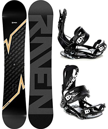 RAVEN Snowboard Set: Snowboard Pulse 2020 + Bindung Fastec FT270 (170cm Wide + FT270 Black XL)