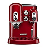KitchenAid Pro Line Series Espresso Maker with Dual Independent Boilers KES2102CA, One Size, Candy Apple Red
