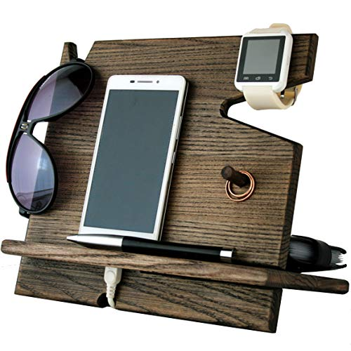 Cell Phone Stand Watch Holder. Men Wood...