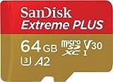 SanDisk SDSQXBZ-064G-GN6MA Extreme Plus - Tarjeta de Memoria microSDXC de 64GB con Adaptador SD,...