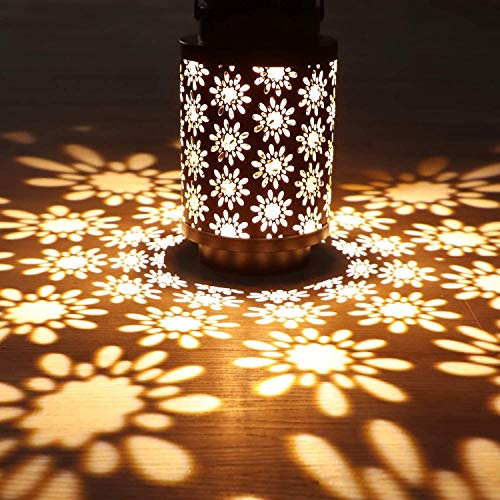 Hanging Solar Lanterns Outdoor Solar Lights Retro Metal...