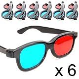 Lunettes 3D anaglyphes (rouge et bleu cyan), lunettes 3D pour télé ou...