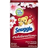 Snuggle Exhilarations Fabric Softener Sheets, Cherry Blossom & Rosewood, 70 Count