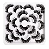 Epaplus 10 Pairs False Eyelashes Extention 2 Models Magnetic Natural Mink lashes Multi-layer Effect Artificial