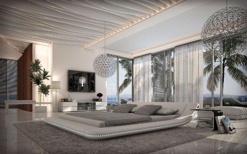 SEDEX Designerbett Custo 160 x 200 cm Weiß modernes Design