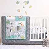 The Peanutshell Safari Bedding Sets for Boys | 3 Piece Nursery Set | Crib Comforter, Fitted Crib Sheet, Crib Skirt Included