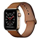 KYISGOS Compatible with iWatch Band 44mm 42mm 40mm 38mm, Genuine Leather Replacement Band Strap...