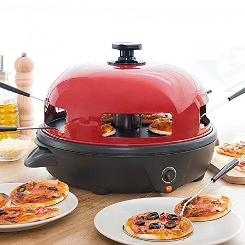 Pizzagrill Elektrische Tisch-Minipizza 5Personen Pizza Party