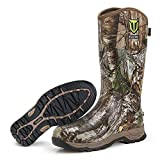TIDEWE Rubber Hunting Boots, Waterproof Insulated Realtree Xltra Camo Warm Rubber Boots with 6mm Neoprene, Durable Outdoor Muck Hunting Boots for Men (Size 9)