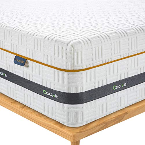 Coolvie Full Mattress 10 inch Gel Memory Foam Innerspring Hybrid Mattress for Pressure Relief & Cool Sleep, Medium Firm Full Size Mattress in a Box, Motion Isolation