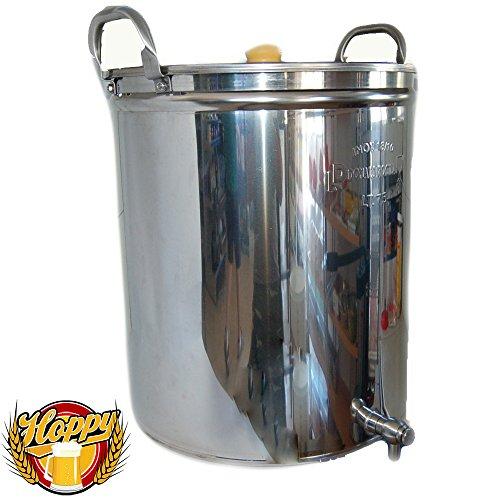 Hoppy Pentola 70 Litri Inox Filtrante con Filtro Bazooka E Rubinetto Birra all Grain