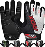 RDX Weight Lifting Full Finger Gym Gloves, Touch Screen Breathable Anti Slip Gel Padded Palm, Fitness HIIT Workout Bodybuilding Powerlifting Strength Training Exercise Cycling, Home Gym Equipment