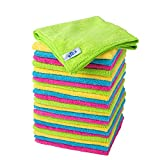 MR.SIGA chiffon nettoyant microfibre de quatre couleurs lot de 24, dimension: 32...