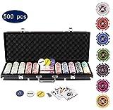 Display4top Set de Poker 500 jetons Laser Haute qualité 12 g Noyau en...