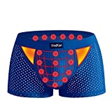 VKWEIKU 11th Generation 2017 Men's pennis Enlargement Underwears Magnetic Micromodal Trunks Therapy Boxer Briefs (Black, Asian Size 3XL)