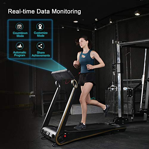 Fisup Foldable Smart Treadmill for Home Office Use Exercise Walking Jogging Silent with APP Installation Free 5