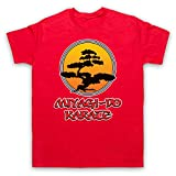 Inspirado por Karate Kid Miyagi Do Logo Bonsai Tree No Oficial Camiseta para Hombre, Rojo, 5XL
