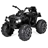 Best Choice Products 12V Kids Electric 4-Wheeler ATV Quad Ride On Car Toy w/ 3.7mph Max Speed, Treaded Tires, LED Headlights, AUX Jack, Radio - Pink