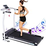 ANCHEER Treadmills,Folding Treadmill for Home,Running Machine with LCD Monitor,Electric Treadmills Pulse Grip and Safe Key,Jogging Walking Exercise Fitness Machine for Family & Office Workout3