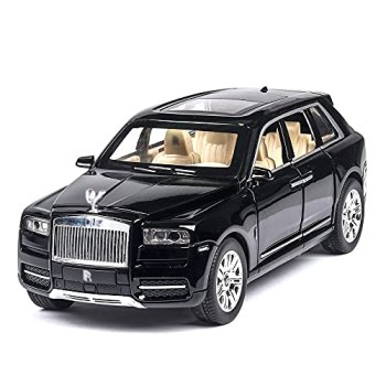 wangch Toy Car, 1/24 Scale Simulation Rolls-Royce Cullinan Model, Alloy Car Model, Sound And Light Pull Back Toy Car, Collectibles, Decorative Ornaments