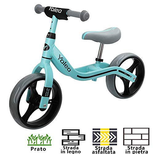 YOLEO Bicicletta Senza Pedali, Bici Senza Pedali Bicicletta Bambini 2-5 Anni / Bici da Equilibrio...