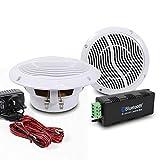 E-Audio - Haut-parleur de plafond de salle de bain - Amplificateur Bluetooth sans fil...